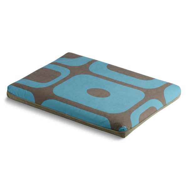 Crypton Mod Block Blue/ Brown Futon Dog Bed