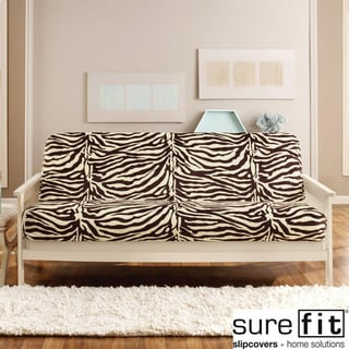Velvet Zebra Brown Futon Cover