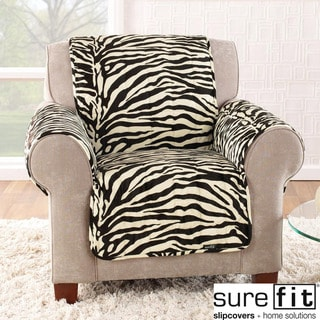 Velvet Zebra Black and White Chair Cover