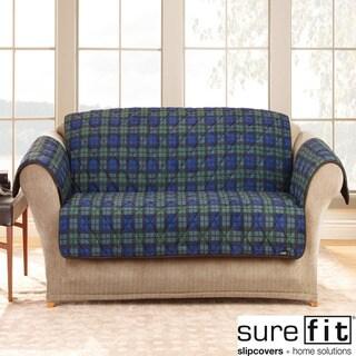 Deluxe Comfort Blackwatch Plaid Sofa Slipcover