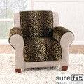 Velvet Leopard Chair Cover