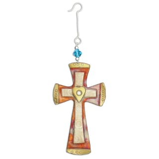 Handcrafted Unity Cross Mixed Metals Ornament (Thailand)