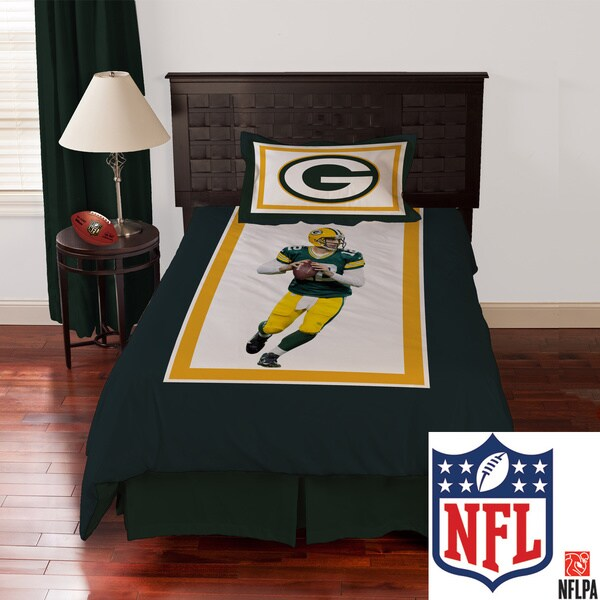 NFL Biggshots Green Bay Packers Aaron Rodgers 4-piece Comforter Set