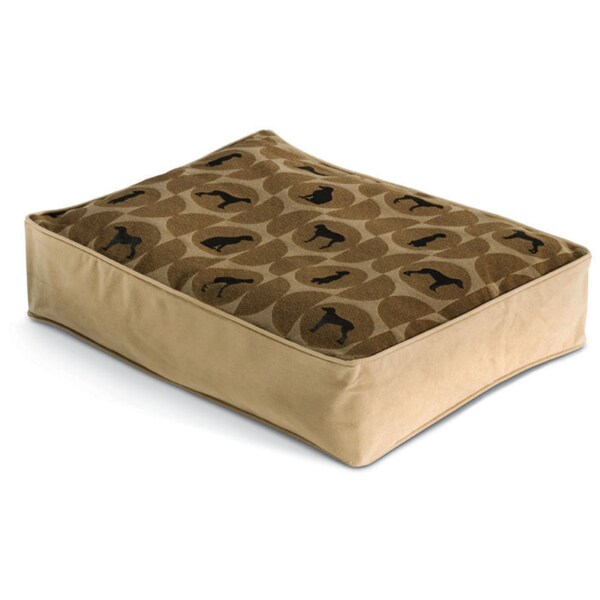 Crypton Polka Dog Rectangle Cork Pet Bed