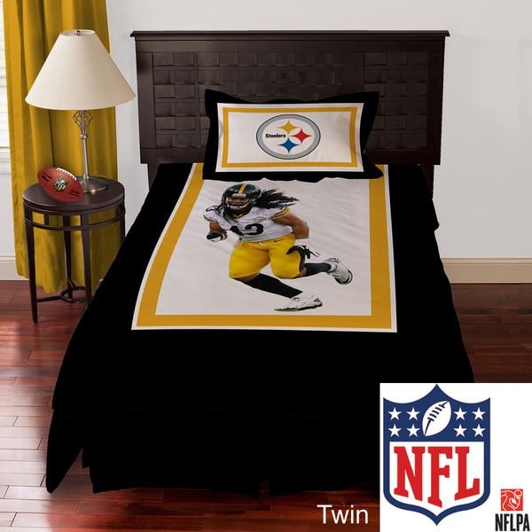 NFL Biggshots Pittsburgh Steelers Troy Polamalu 4-piece Comforter Set