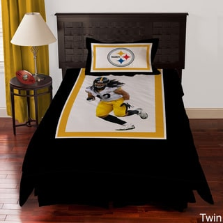 Pittsburgh Steelers Troy Polamalu 4-piece Comforter Set