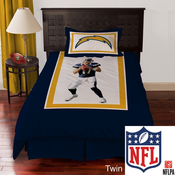 NFL San Diego Chargers Philip Rivers 4-piece Comforter Set