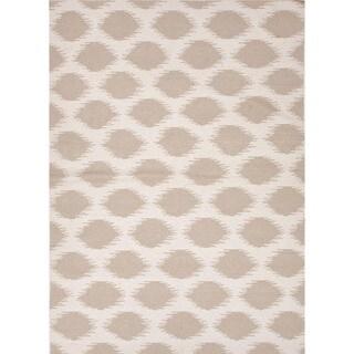 Flat Weave Tribal Beige/ Brown Wool Rug (5' x 8')