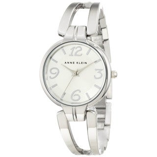 Anne Klein Women's Silver-plated Stainless Steel Watch
