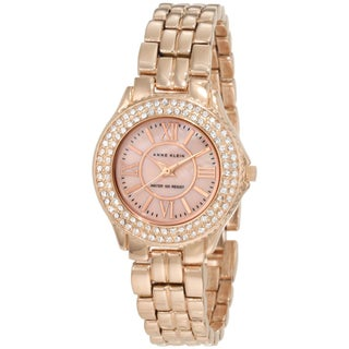 Anne Klein Women's 10-9536RMRG Rosegold Tone Stainless Steel Watch