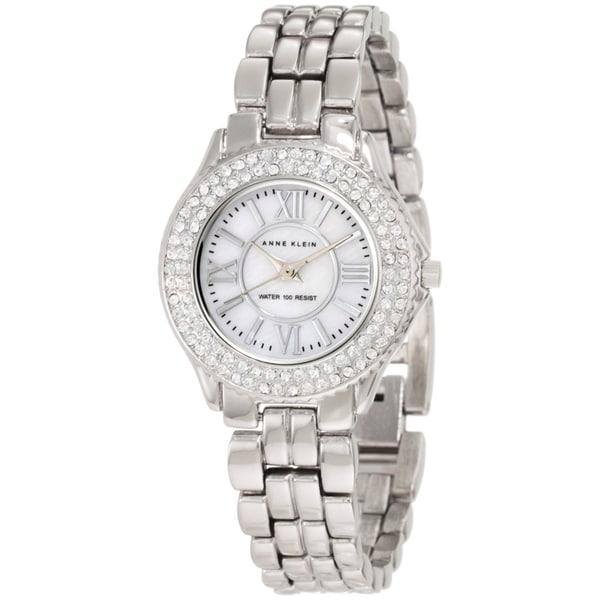 Anne Klein Women's Silver-plated Brass Bracelet Watch