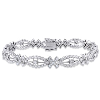 Miadora 14k White Gold 1 3/5ct TDW Diamond Bracelet (G-H, I1-I2)