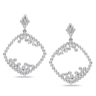 Miadora 14k White Gold 1 1/3ct TDW Diamond Earrings (G-H, SI1-SI2)