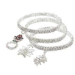 Roman Winter Themed Crystal Stretch Charm Bracelets