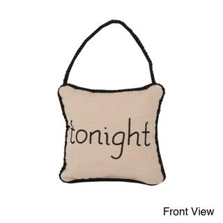 Reversible 'Tonight/ Not Tonight' 6-inch Door Hanger Pillow