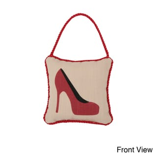 Reversible 'High Heel/ Steppin' 6-inch Door Hanger Pillow