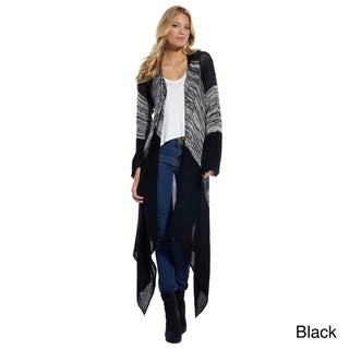 Elan Women's Sweater Drape Long with Pin