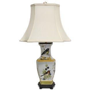 Secret Garden Bird Design Hex Table Lamp