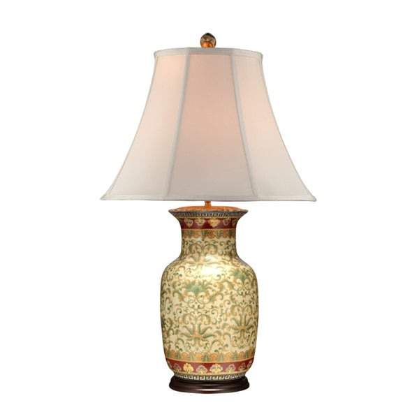 Empress Pattern Round Table Lamp