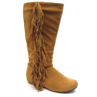 Blue Women's 'Gena' Tan Fringe Accented Boots
