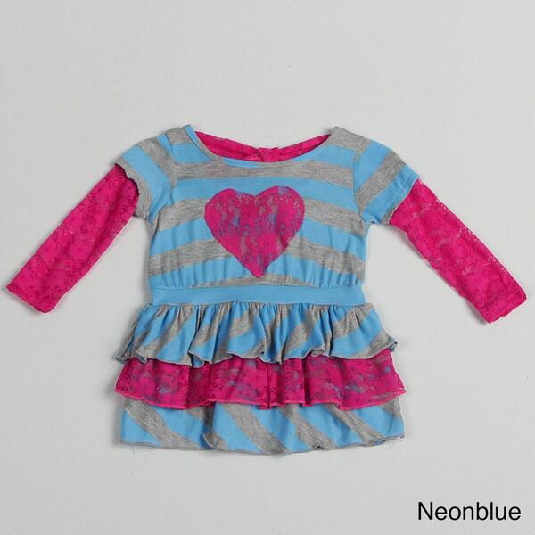 Funkyberry Children's Long Sleeve Striped Dress