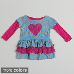 Funkyberry Children's Long Sleeve Striped Dress