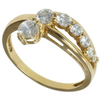 Michael Valitutti Signity 14k Yellow Gold Round-cut Cubic Zircona Ring