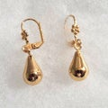 18k Gold Large Teardrop Earrings
