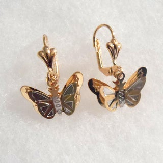 18k Gold Butterfly Earrings