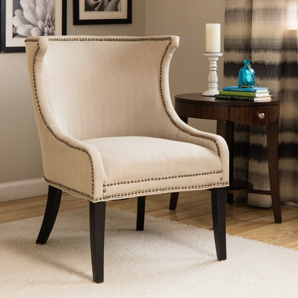 Demi Ritual Linen Accent Wing Chair 14971765 Overstock
