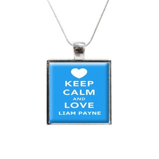 'Keep Calm and Love Liam Payne' One Direction Glass Pendant and Necklace