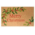 Merry Christmas Coir Door Mat with Vinyl Backing (17 x 29)