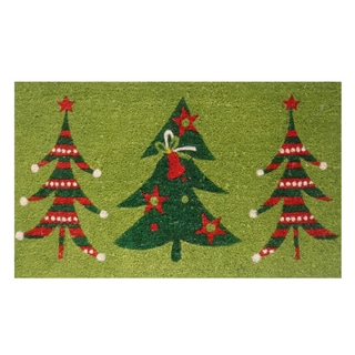 Christmas Trio Coir Door Mat with Vinyl Backing (17 x 29)