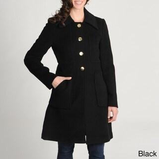 Tahari Petite Cobalt Size 2 Wool-blend Walking Coat