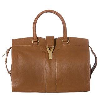 Yves Saint Laurent Women's 'Cabas ChYc' Nut Leather Medium Tote Handbag