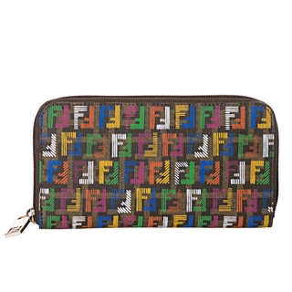 Fendi Women's 'Forever-Techno' Multicolored Zucchino Print Continental Wallet