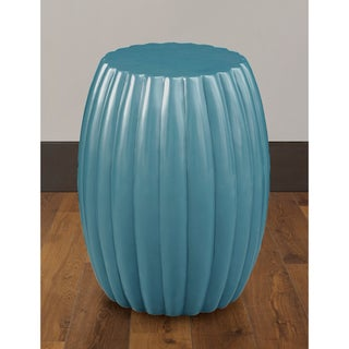 Artisian Peacock Drum Accent Table