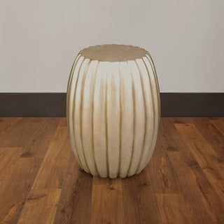 Artisian Champange Drum Accent Table