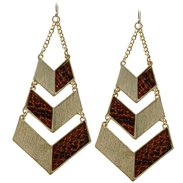 LucyNatalie Snake Skin Dangle Earrings