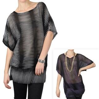 Tressa Designs Women's Contemporary Plus Banded Scoop Neck Top