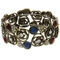 LucyNatalie Stretch Flower Multi-stone Bangle