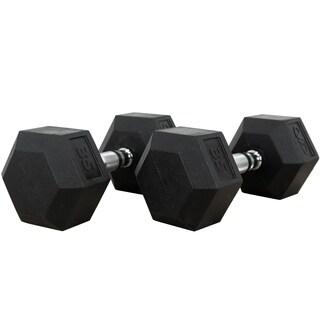 Valor Fitness RH-35 35lb Rubber Hex Dumbbell (Pair)