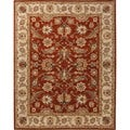 Traditional Red/ Orange Wool Tufted Runner Rug (2'6 x 6')