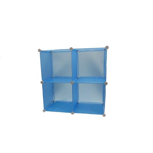 EzHomeSpree Blue Expandable Magic Storage Cubes (Set of 4)