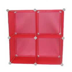 EzHomeSpree Pink Expandable Magic Storage Cubes (Set of 4)