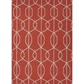 Flat Weave Red/ Orange Wool Handmade Runner (2'6 x 8')