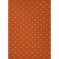 Flat Weave Geometric Red/ Orange Wool Rug (9' x 12')