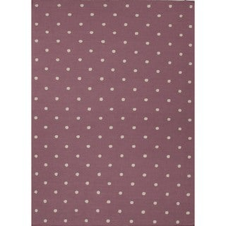 Flat Weave Geometric Pink Rug (5' x 8')