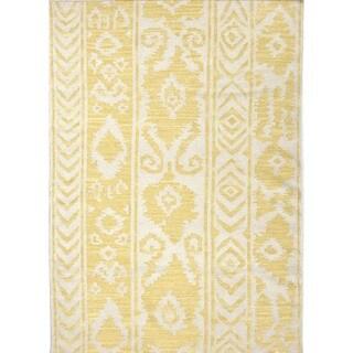 Flat Weave Tribal Gold/ Yellow Wool Runner (2'6 x 8')
