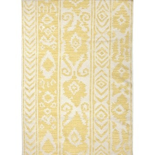 Flat Weave Tribal Gold/ Yellow Wool Area Rug (5' x 8')